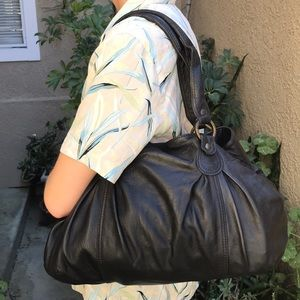 Black ABACO made in France leather purse